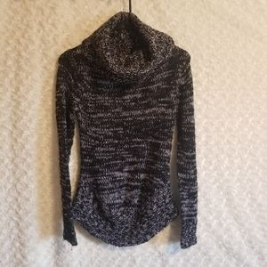 Heather sweater cowl neck